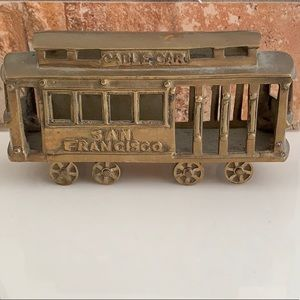 Authentic brass San Francisco trolly (vintage)